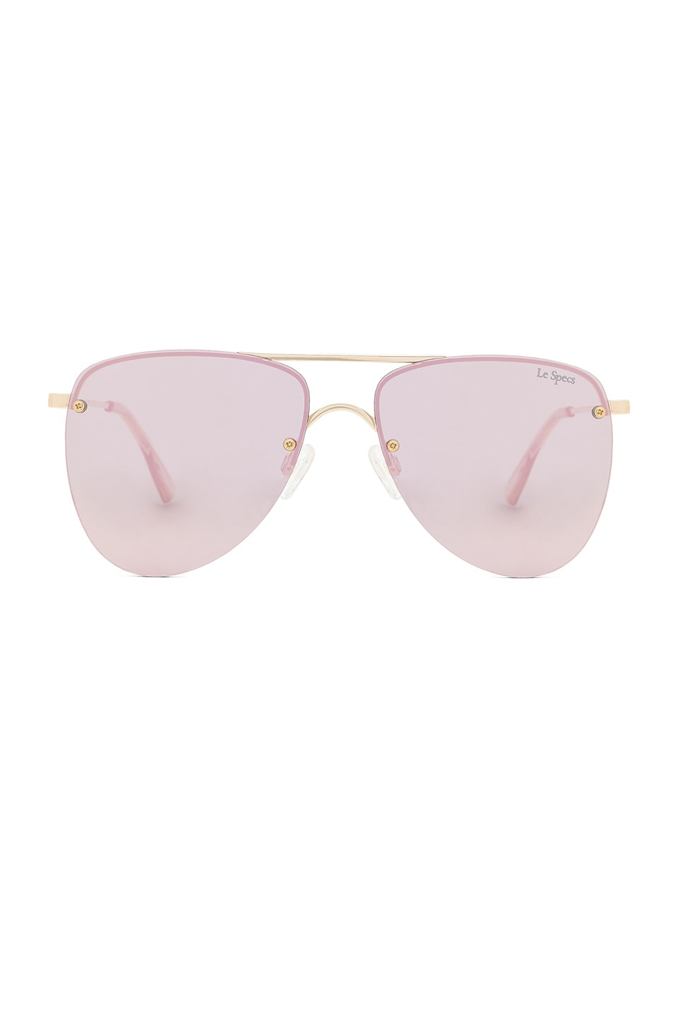 Le Specs The Prince Sunglasses in Gold & Blush