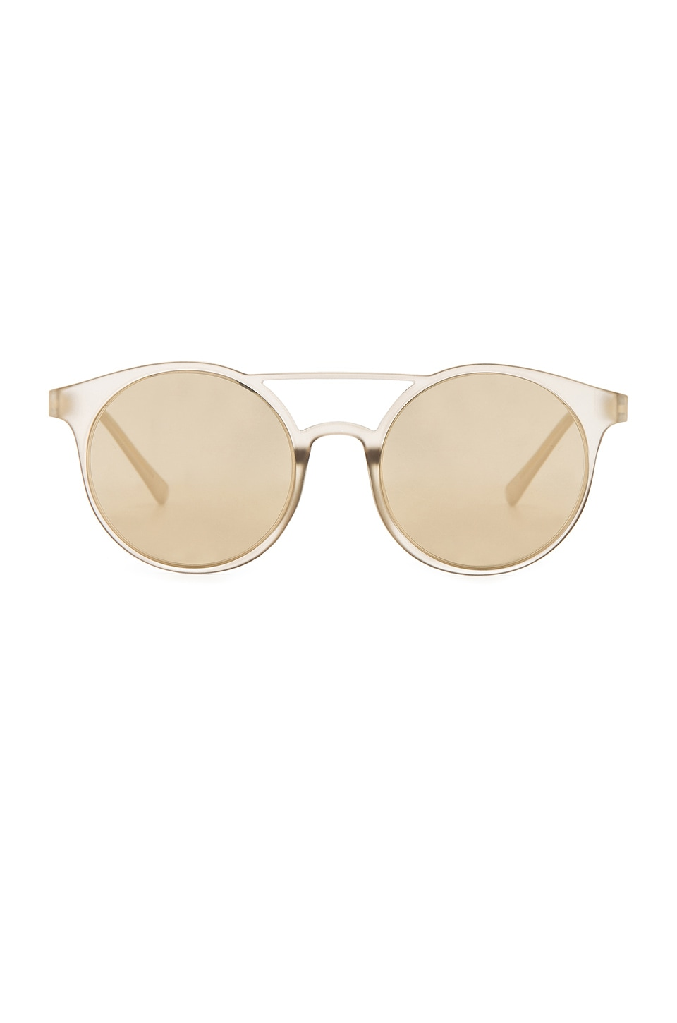Le Specs Demo Mode Sunglasses in Matte Stone & Gold