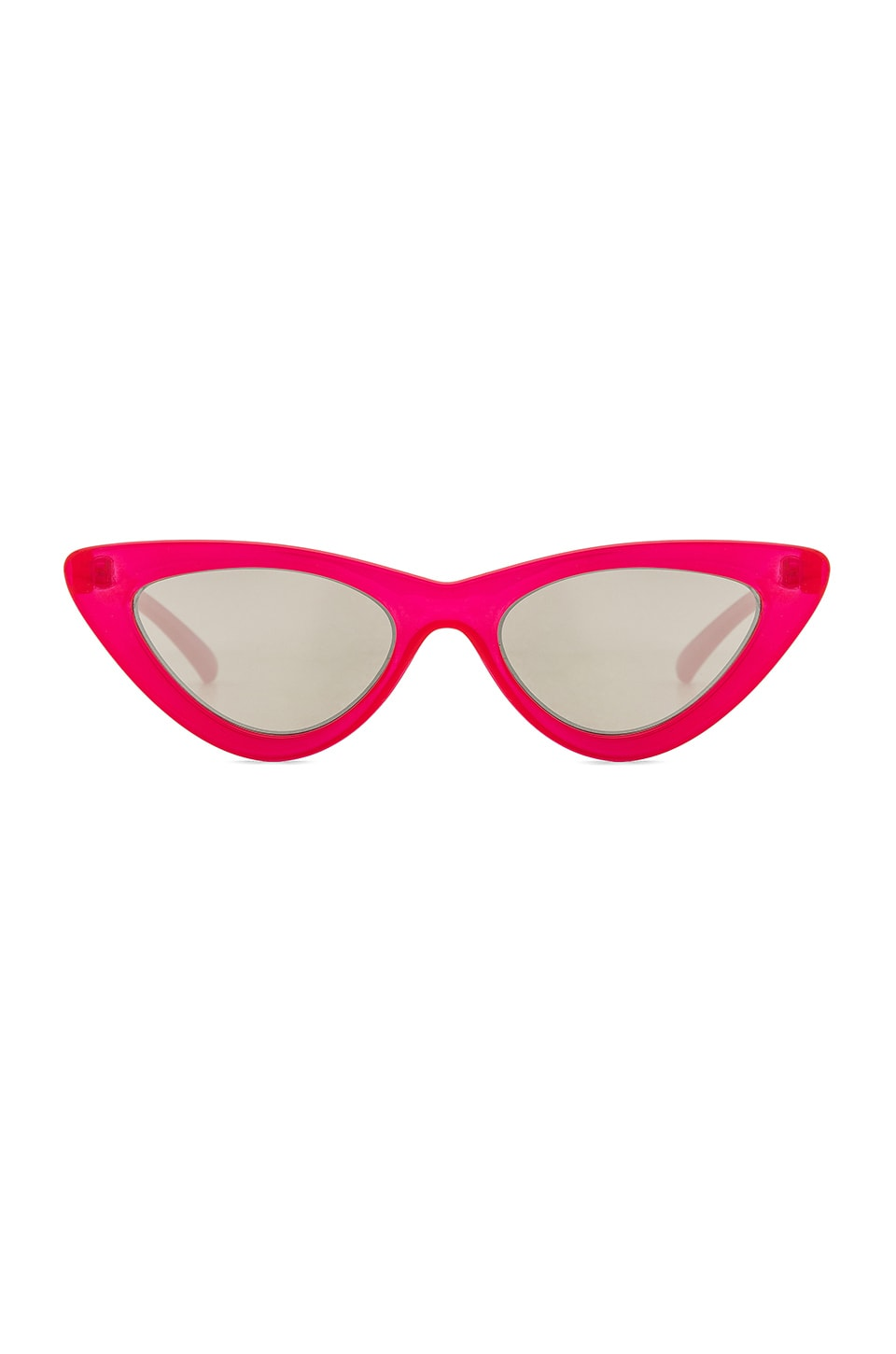 Le Specs x Adam Selman The Last Lolita in Opaque Red & Silver Mirror