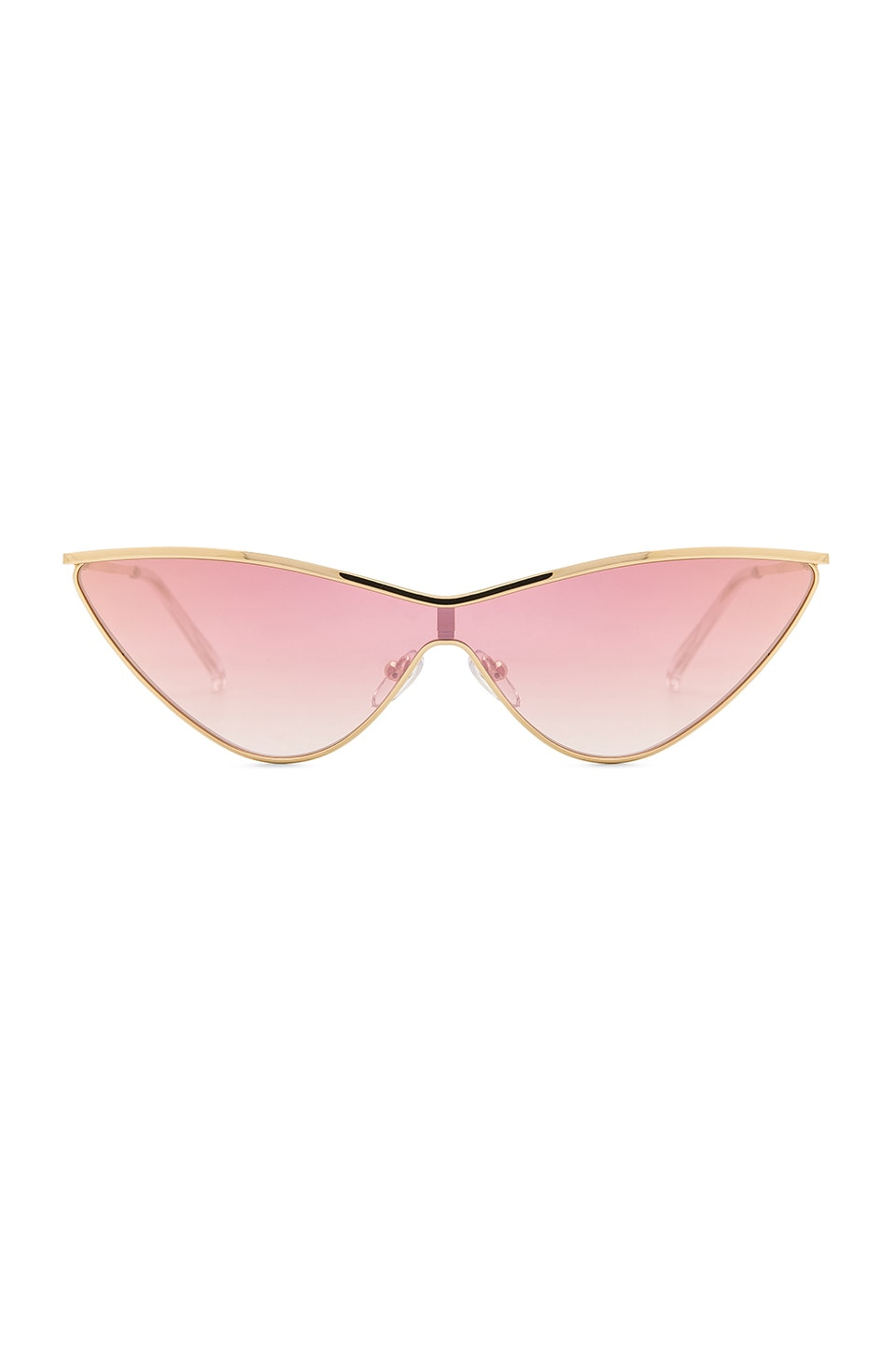 Le Specs x Adam Selman The Fugitive in Bright Gold & Rose Gradient Mirror