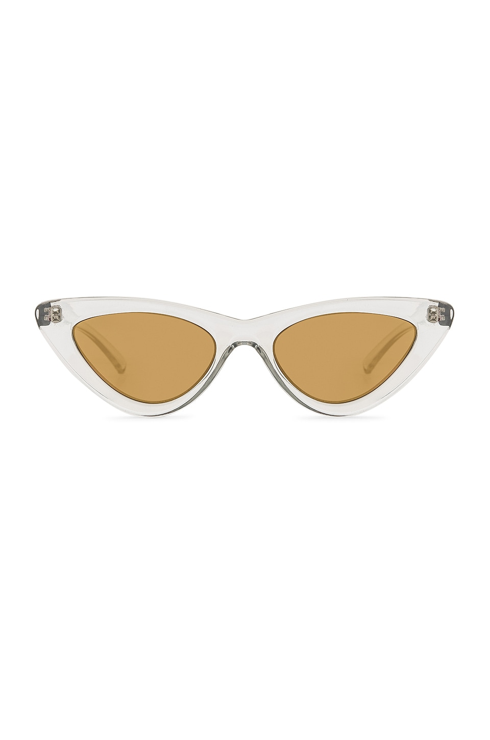 Le Specs x Adam Selman The Last Lolita in Crystal Grey & Brass Mirror
