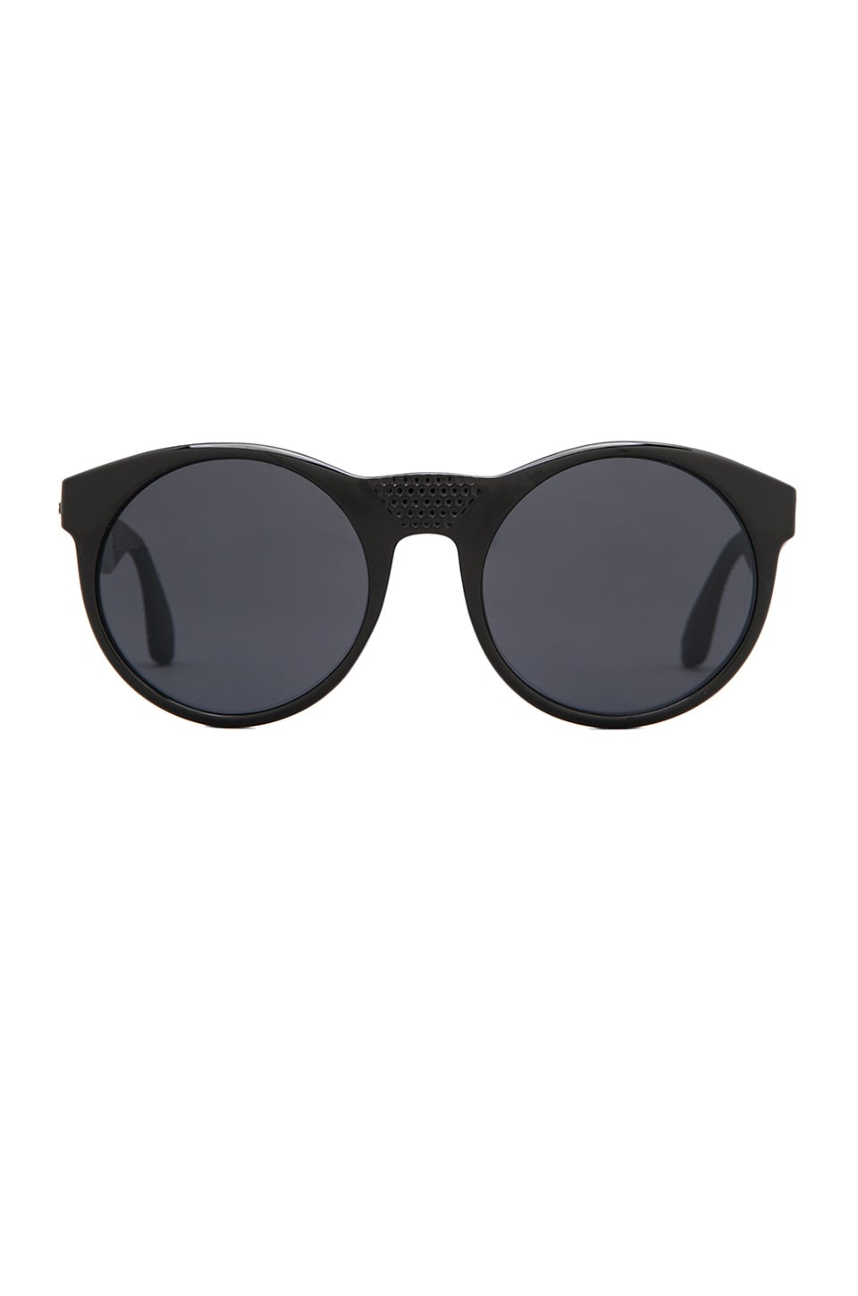 Le Specs Secret Society in Black/ Black Rubber/ Smoke Mono