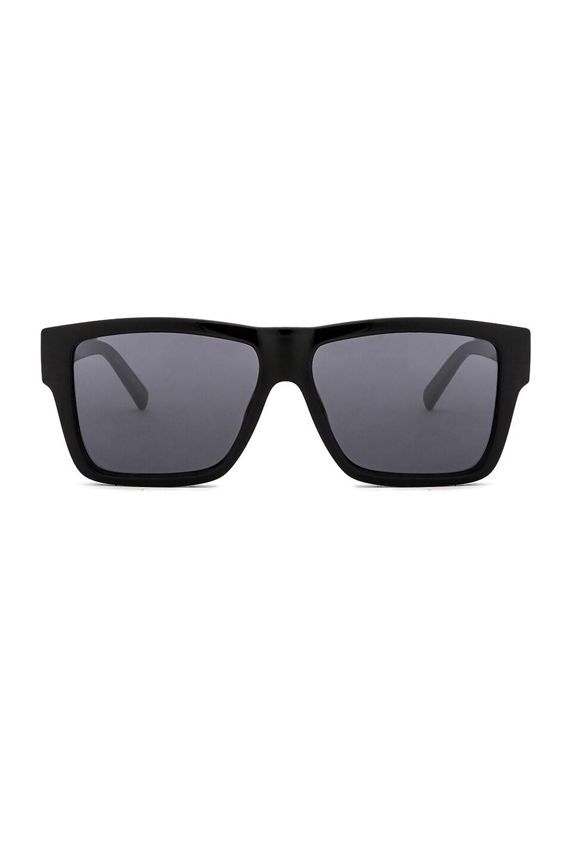 Le Specs Mod Bande Square Frame Sunglasses In Black | ModeSens