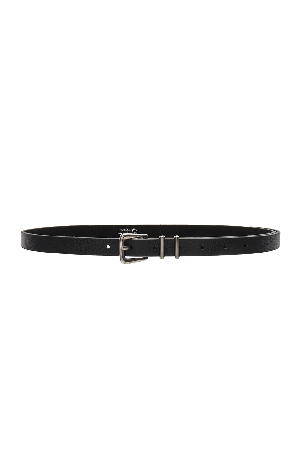 Lovestrength Marina Belt in Black Pebble Leather