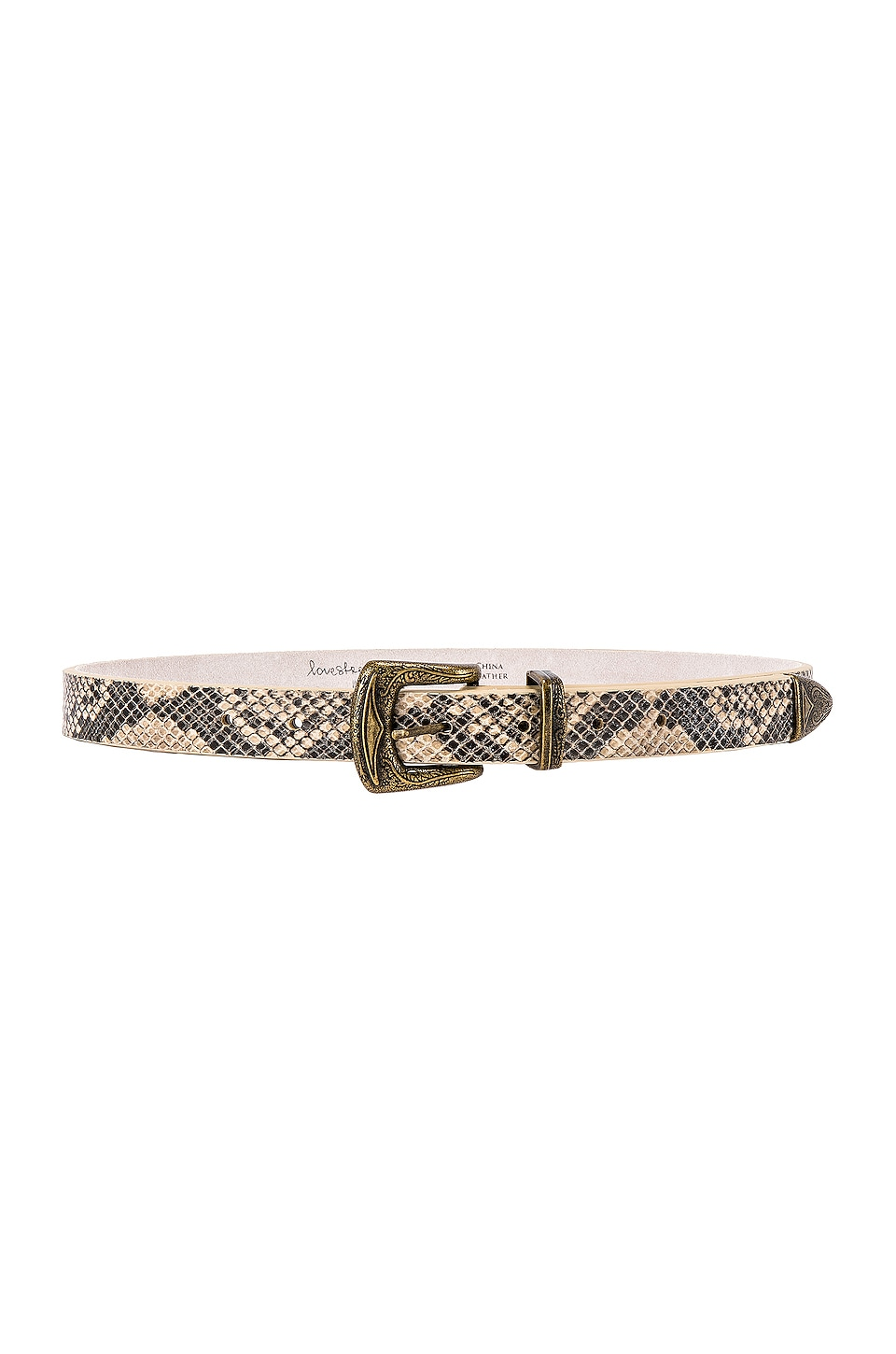 Lovestrength Koda Belt in Beige Multi Snake
