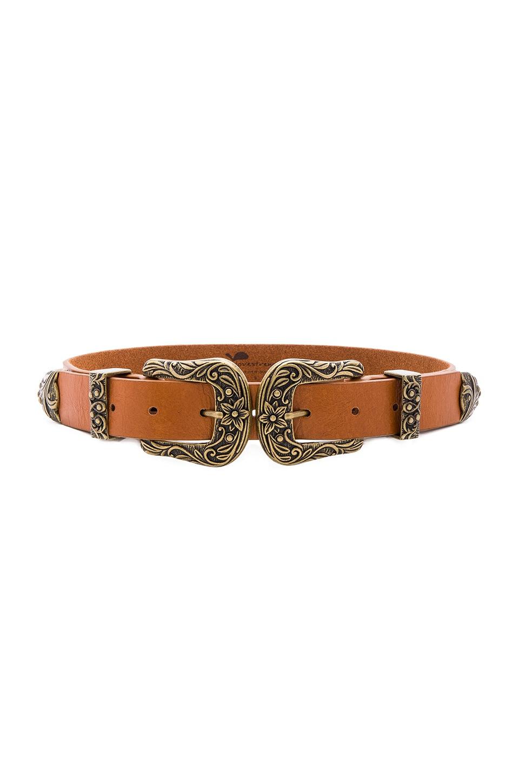Lovestrength Scarlet Waist Belt in Cognac