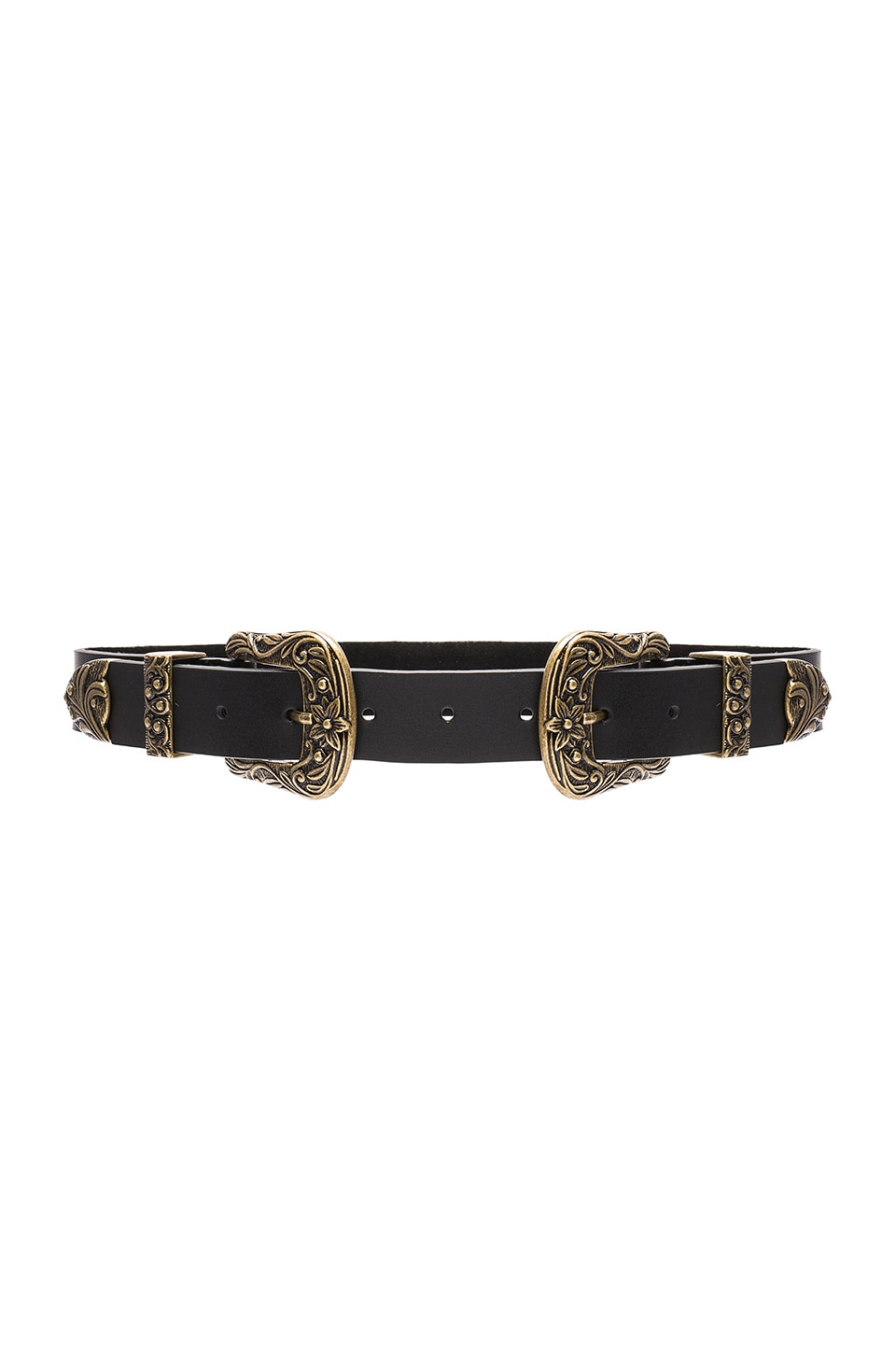 Lovestrength Scarlet Waist Belt in Black Antique & Brass