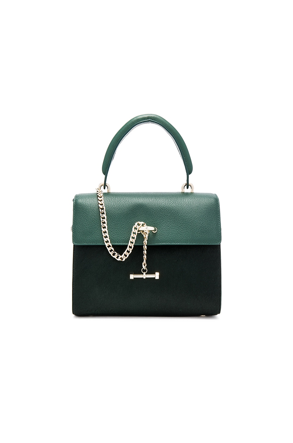 Luana Italy Paley Mini Pony Hair Satchel in Jungle