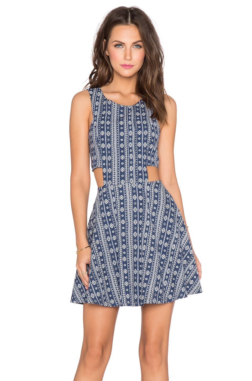 Lucca Couture Cut Out Dress in Blue