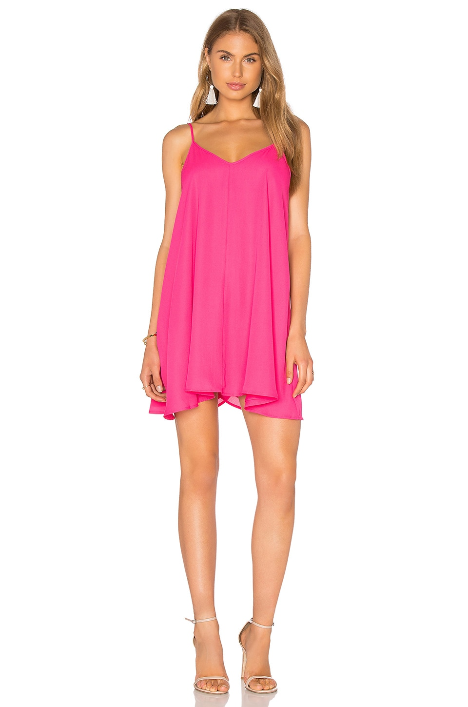 Lucca Couture Tank Dress in Fuchsia