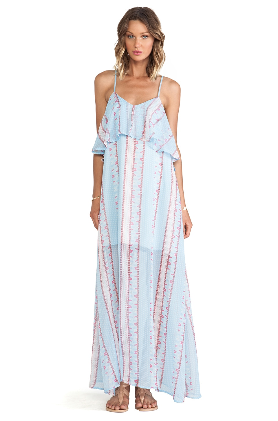 Lucca Couture Maxi Tank Dress in Blue