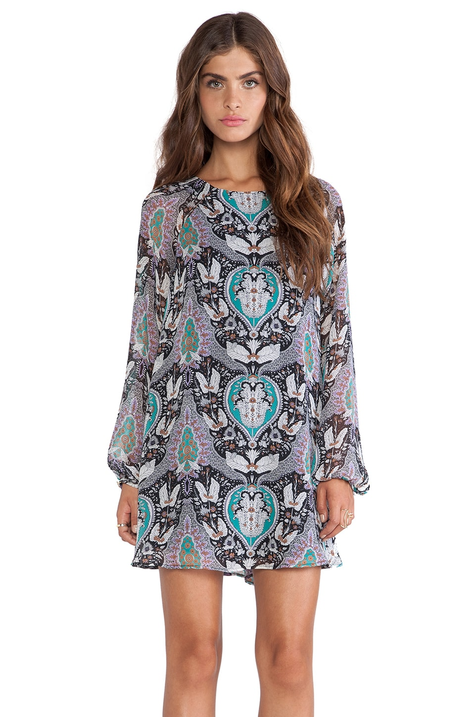 Lucca Couture Shift Dress in Black Boho