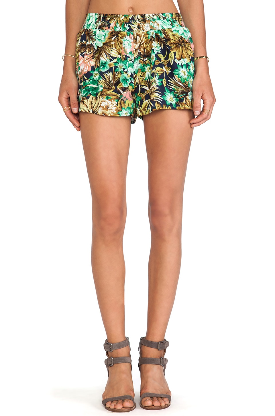 Lucca Couture Shorts in Navy Floral