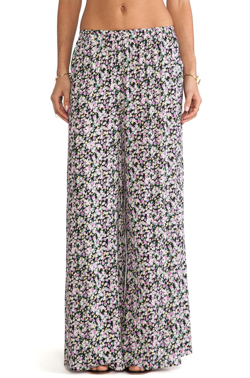 Lucca Couture Wide Leg Pant in Black Ditsy