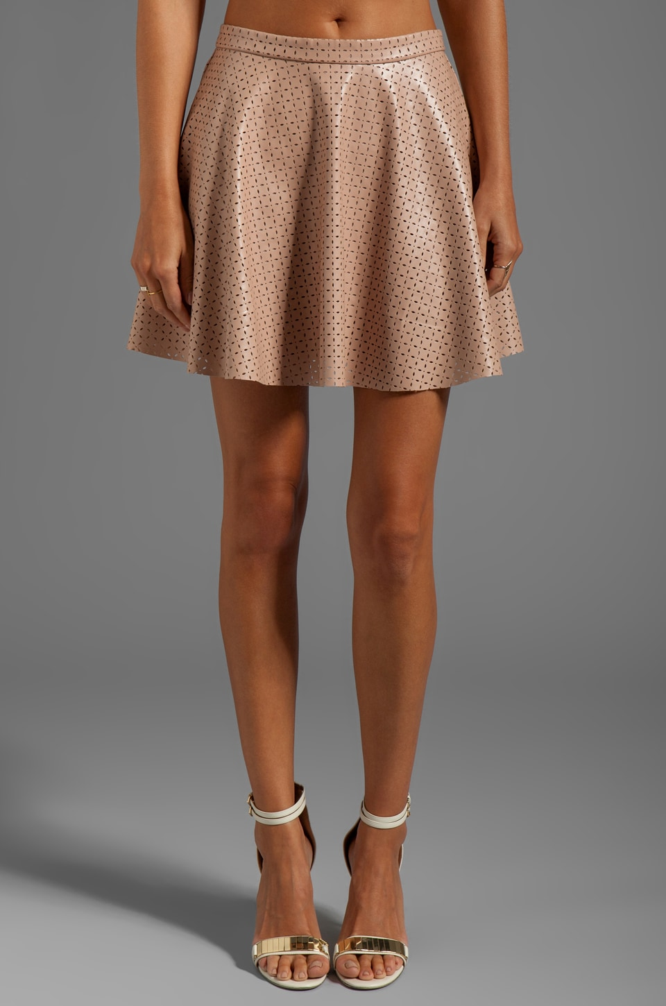 Lucca Couture Mini Skirt in Blush