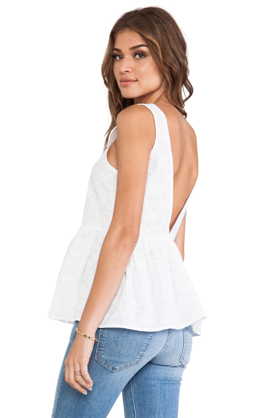 Lucca Couture Tank in White
