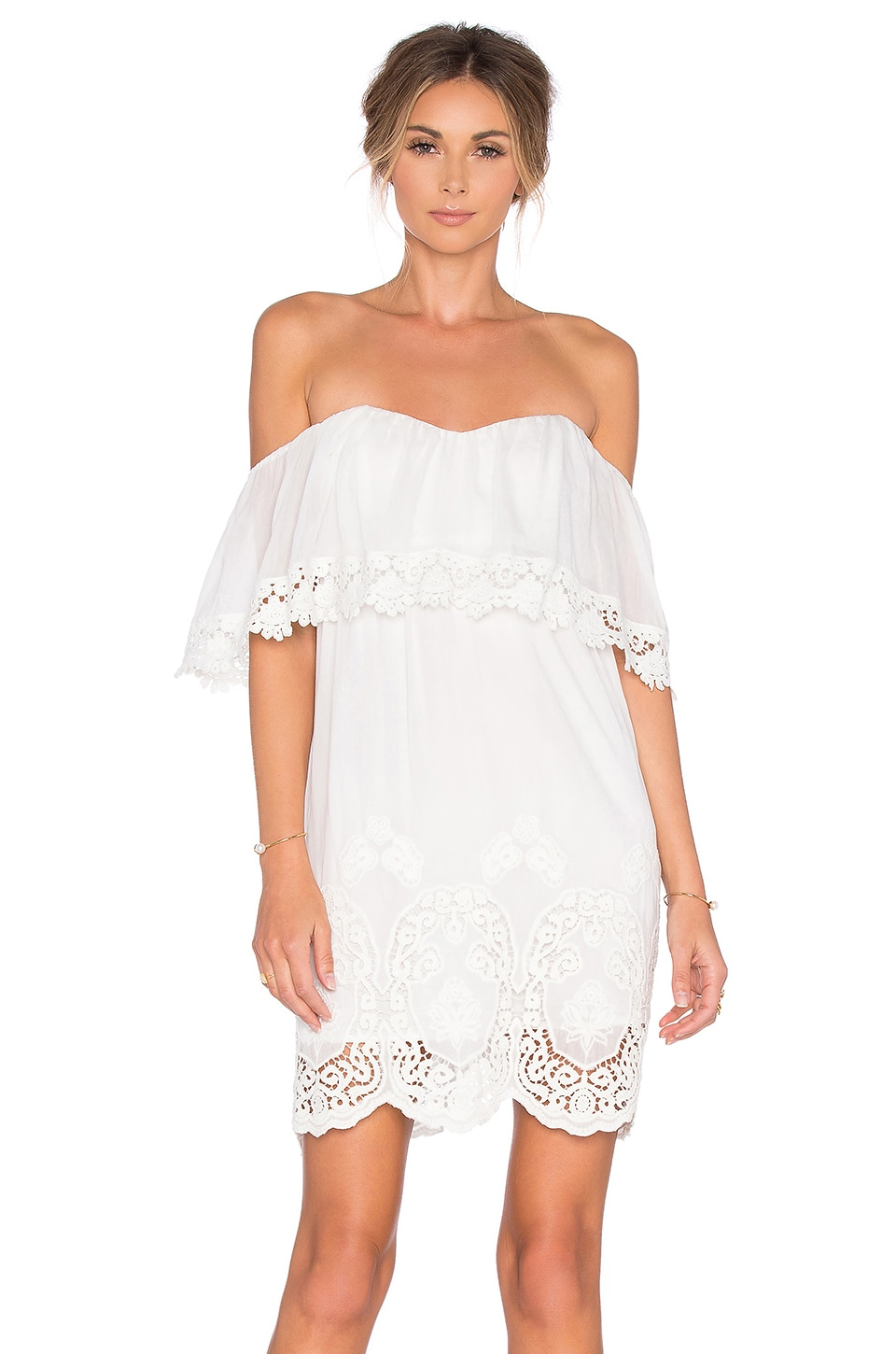 Lucy Paris Ophelia Lace Dress in White
