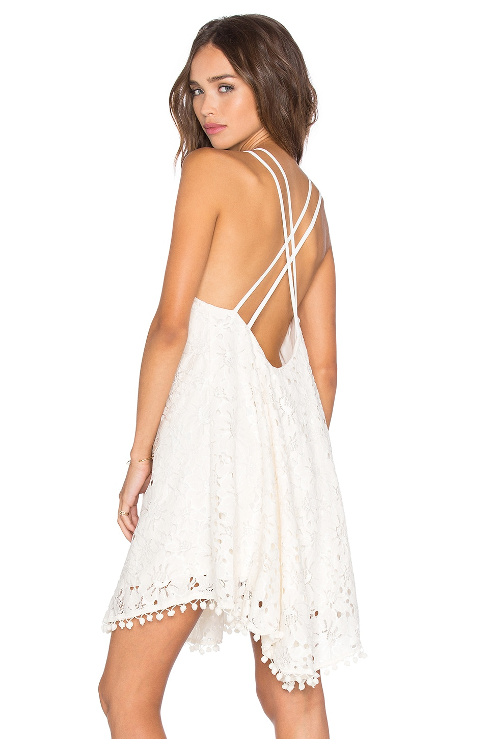 Lucy Paris Kate Criss Cross Dress in White