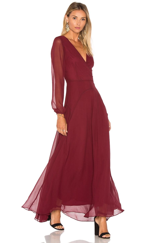 Lucy Paris Carolina Maxi Dress in Raisin