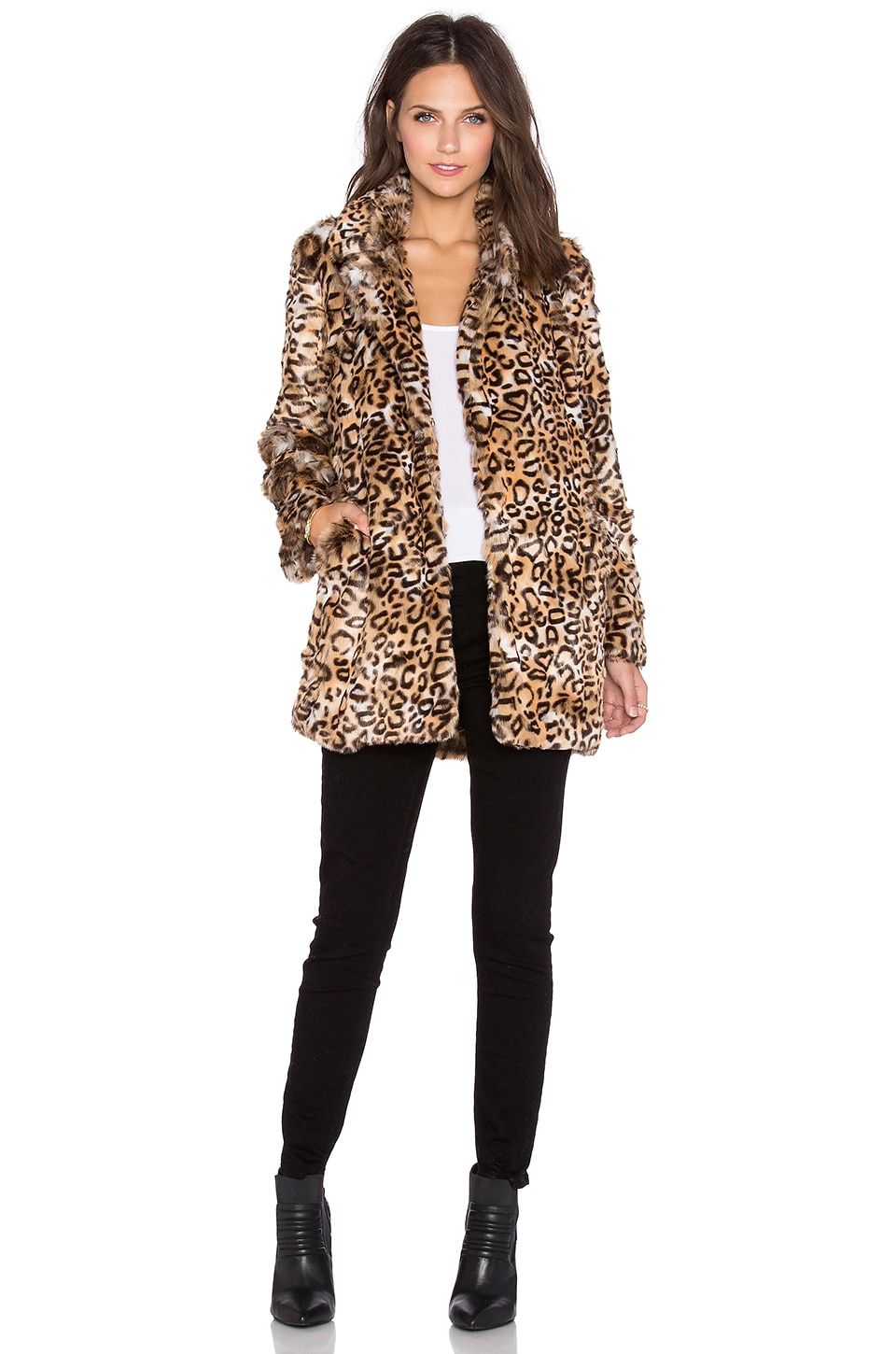 Cats Meow Faux Fur Coat