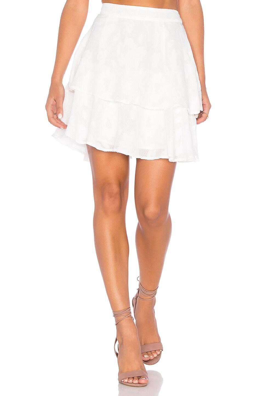Rose Burnout Skirt