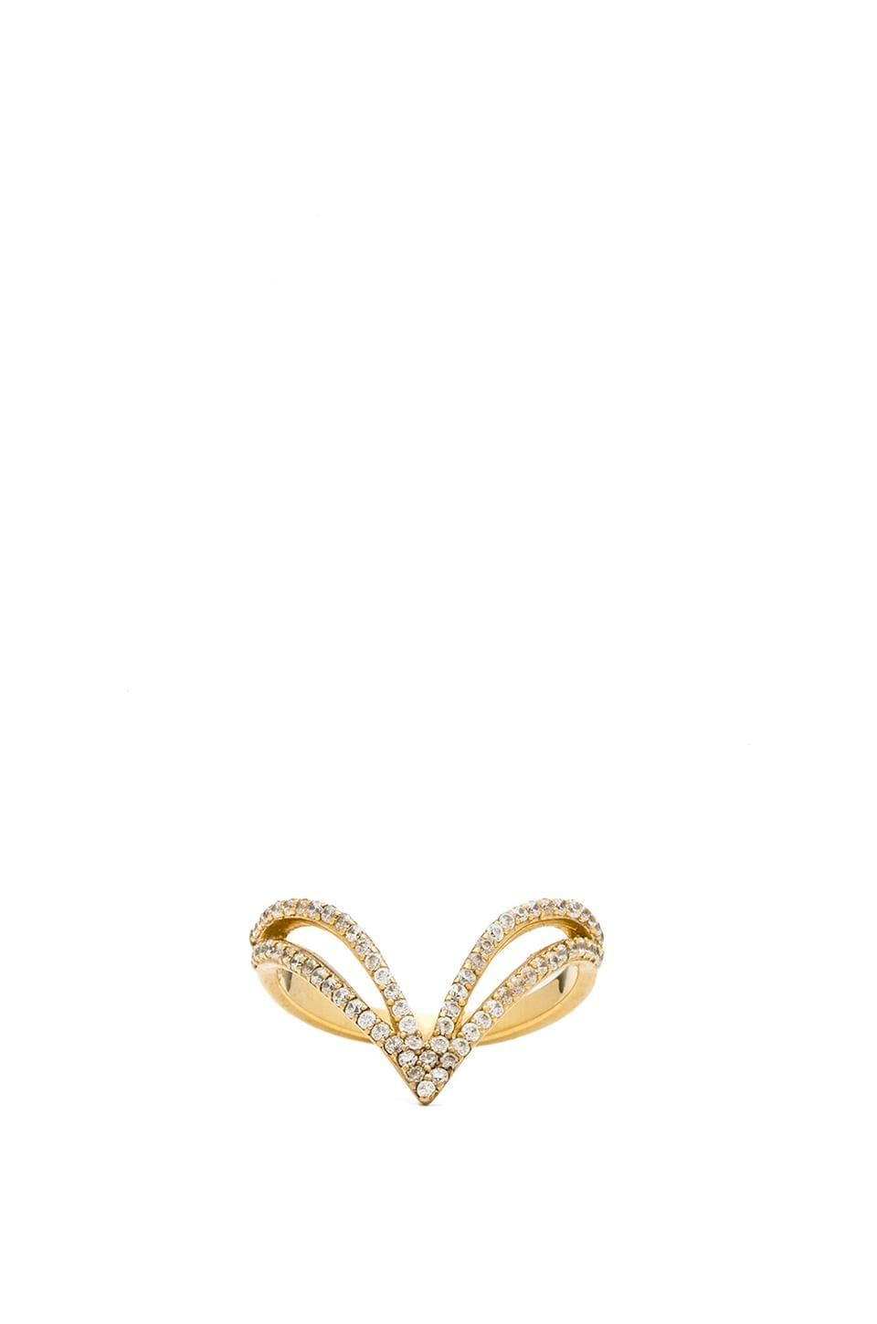 Lucky Star Vela Ring in Gold