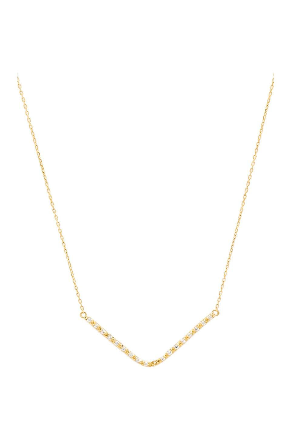 Lucky Star Vela Necklace in Gold & Clear