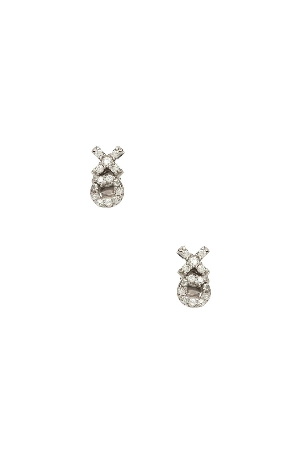Lucky Star XO Stud Earring in Silver