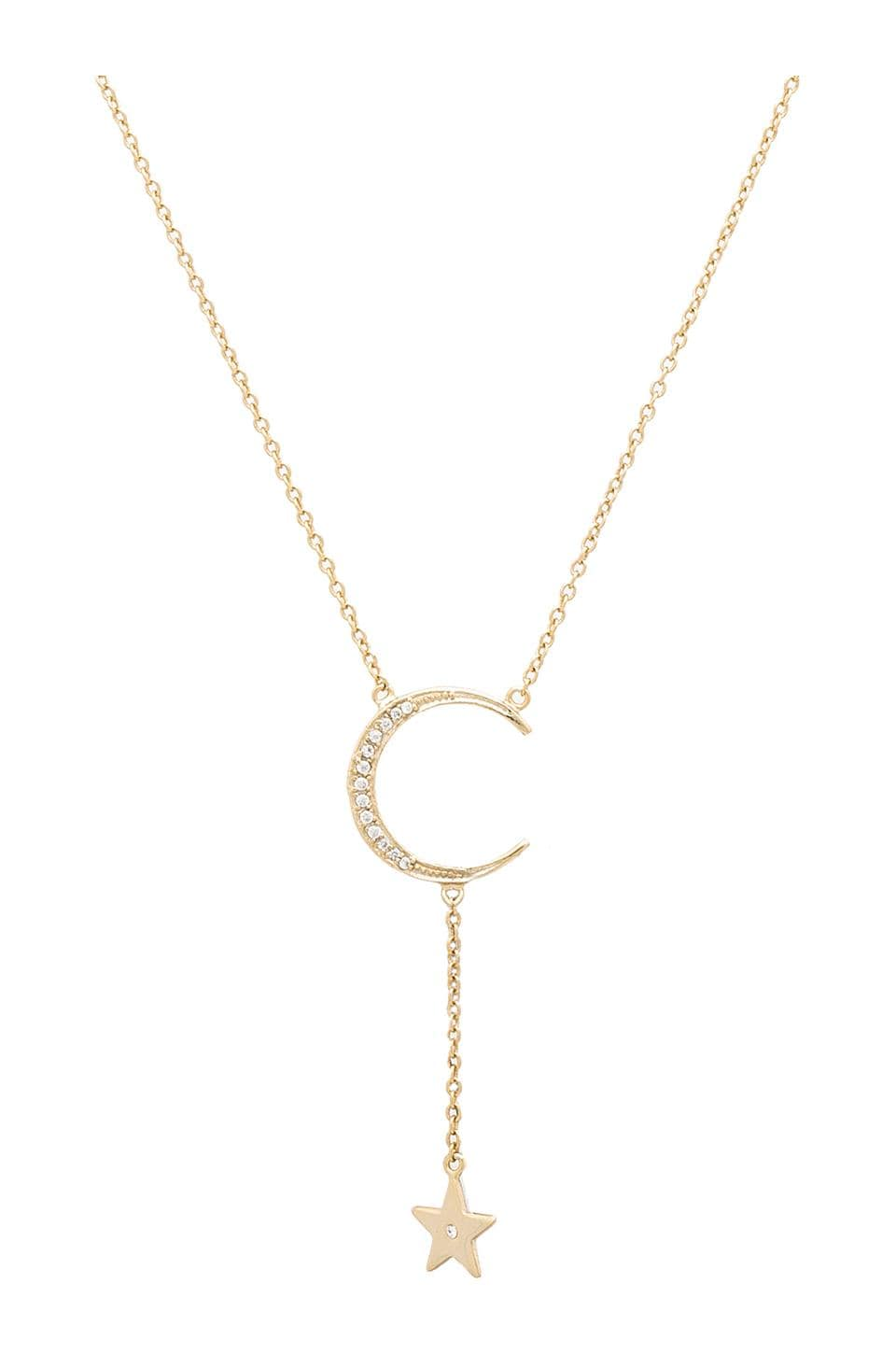 Lucky Star Falling Star Necklace in Gold