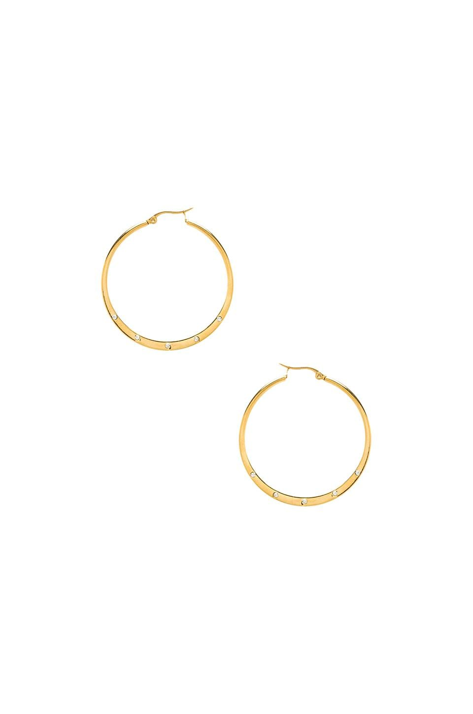 Lucky Star Shine Hoop in Gold