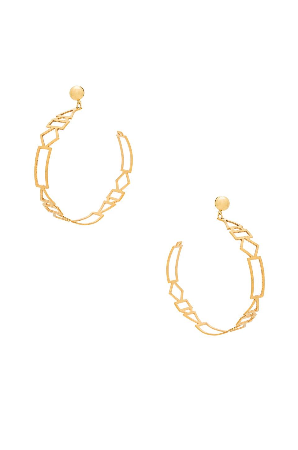 LARUICCI Geometric Hoops in Gold