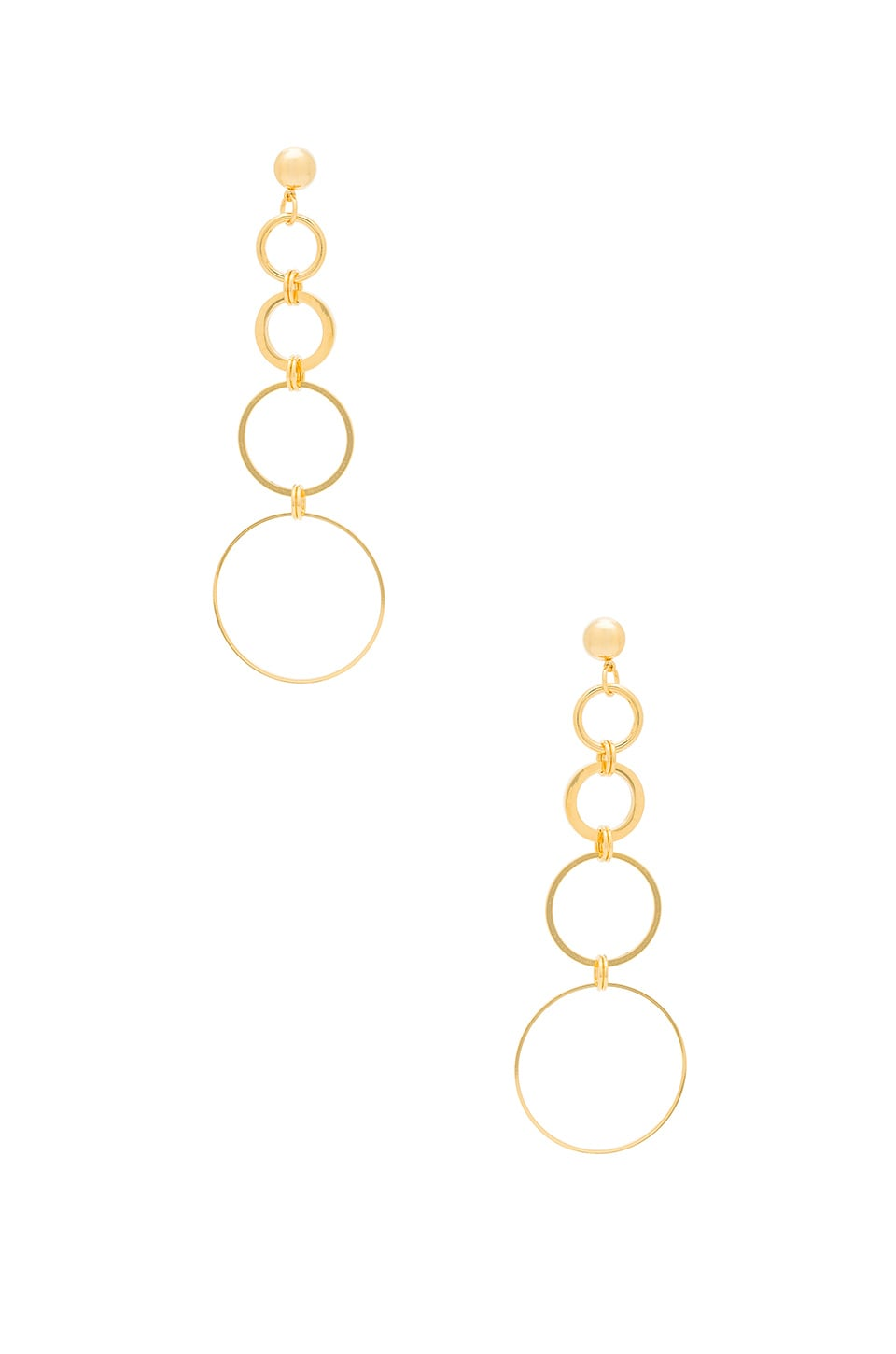 LARUICCI Cascading Circles Earring in Gold