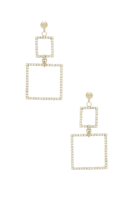 LARUICCI Double Square Earring in Silver