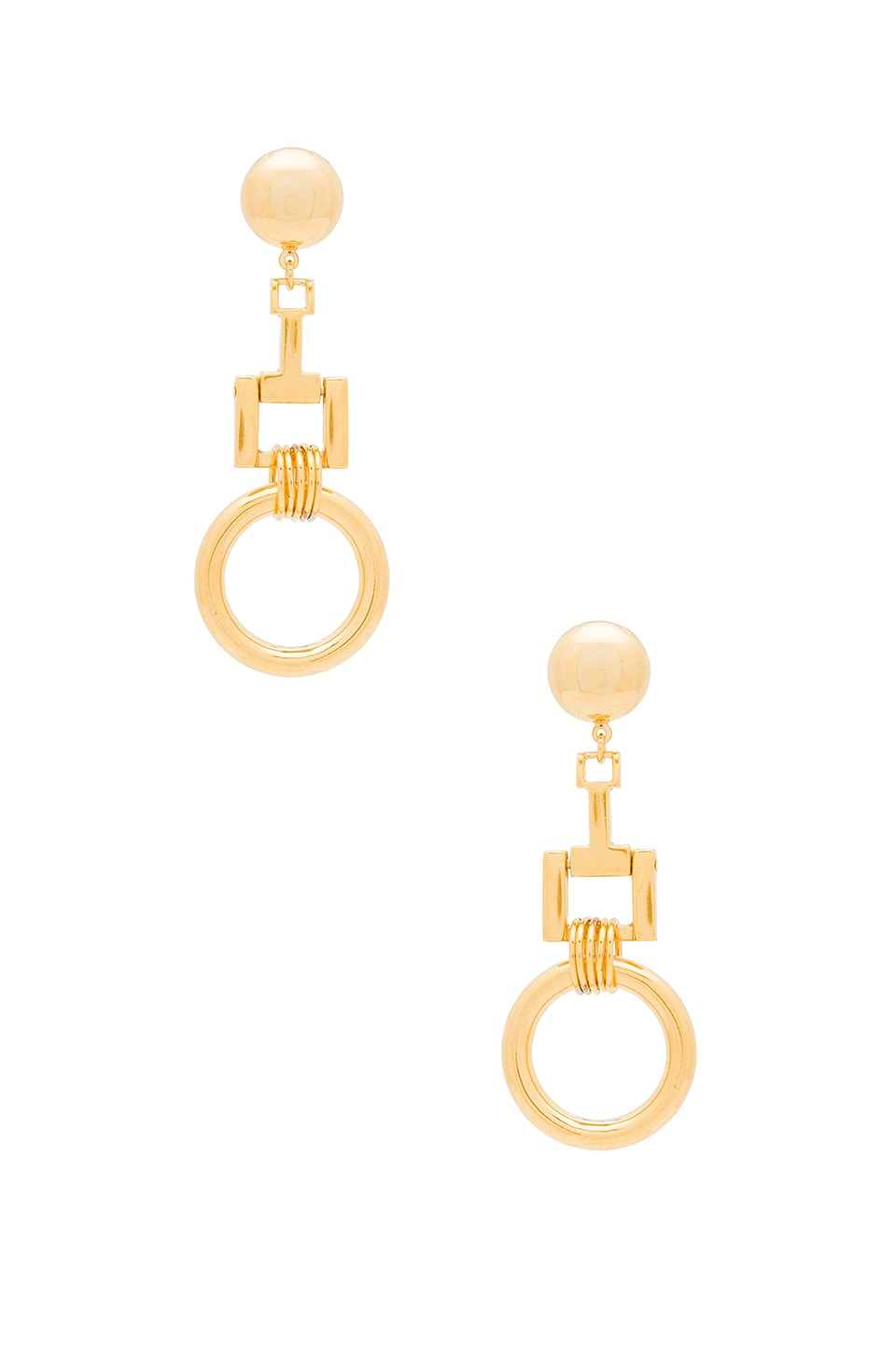 LARUICCI Linked Ring Earrings in Gold