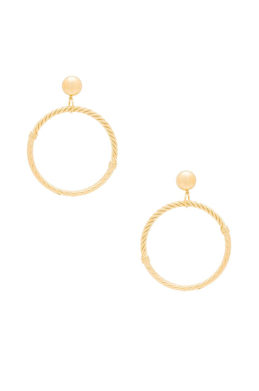 LARUICCI CABLE CIRCLE EARRINGS