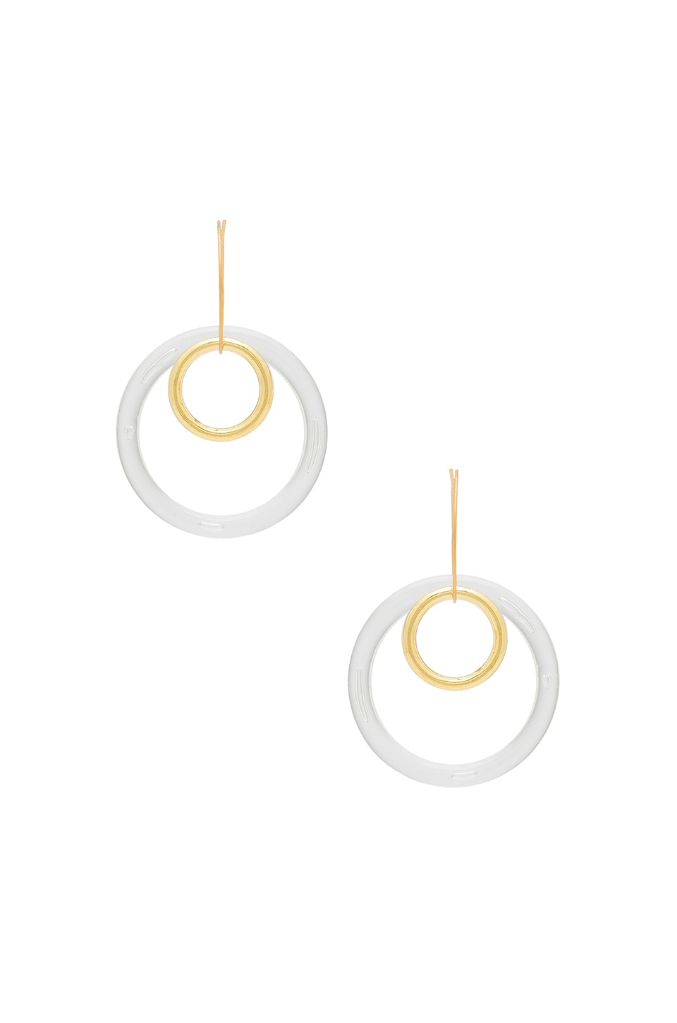 LARUICCI Circle Double Hoops in Clear & Gold