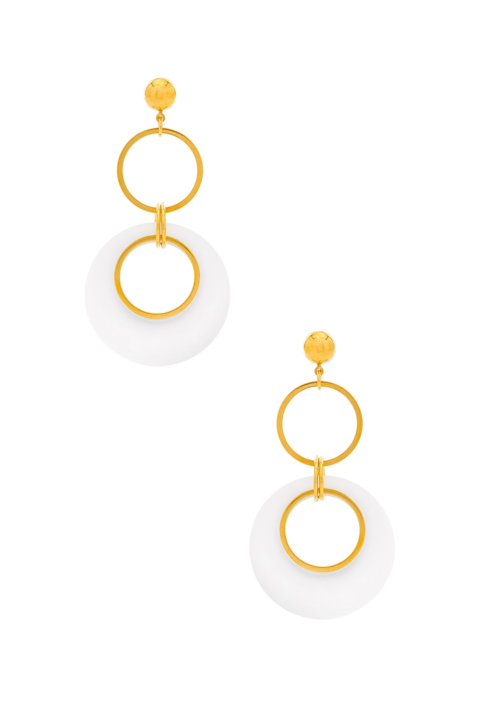 LARUICCI Circle Drop Earrings in Gold