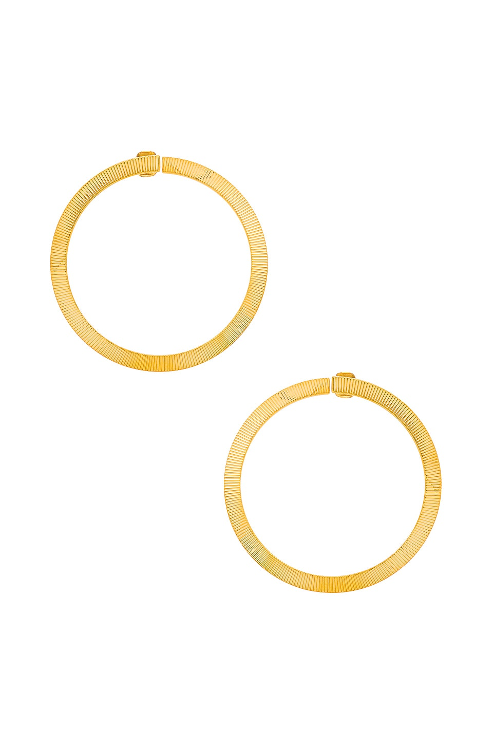 LARUICCI Twisted Hoop Earrings in Gold
