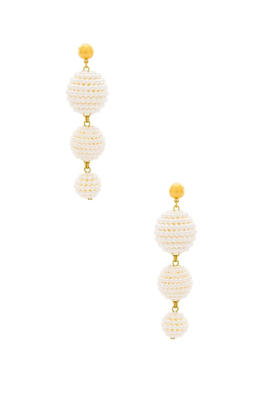 LARUICCI Sphere Drop Earrings in Ivory