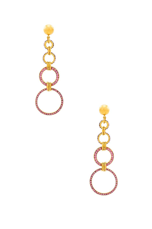 LARUICCI Linked Dangle Earrings in Blush CZ