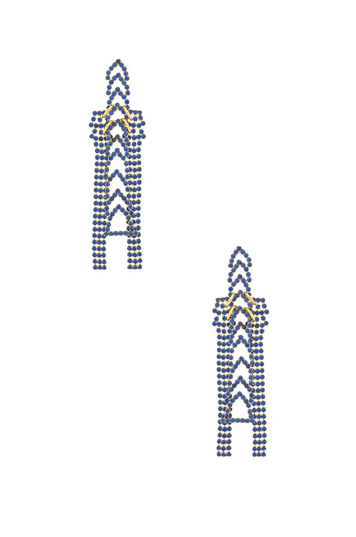 LARUICCI Crystal Chain Earrings in Metallic Gold