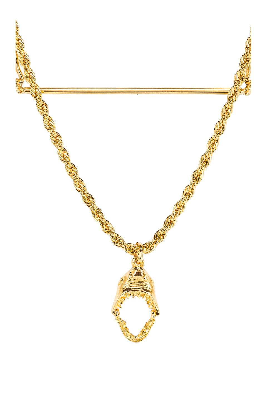 LARUICCI Layered Shark Necklace in Metallic Gold