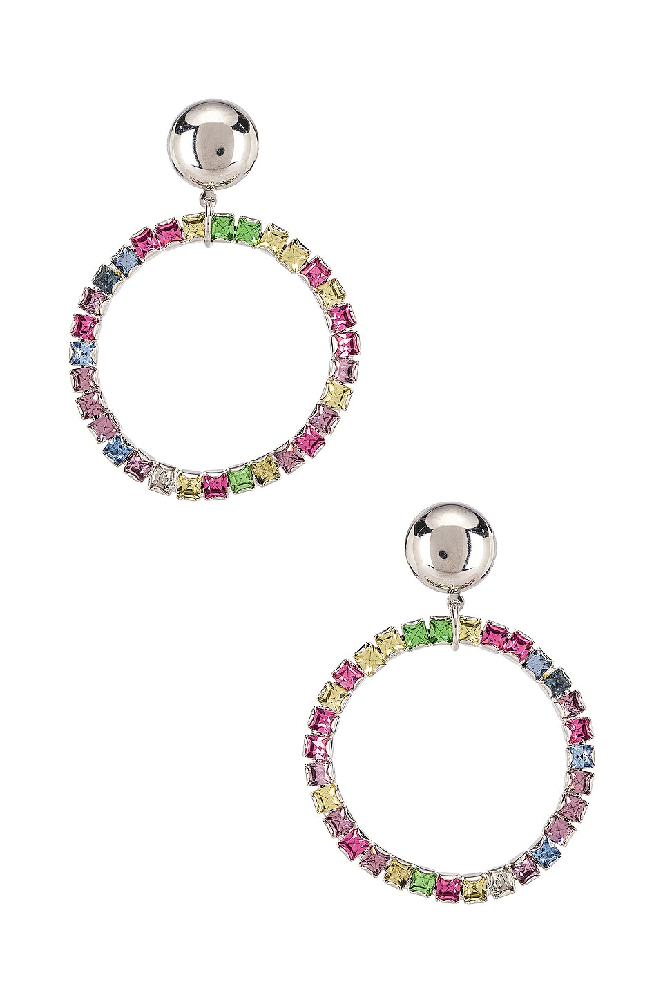 LARUICCI Rainbow Crystal Earrings in Rainbow