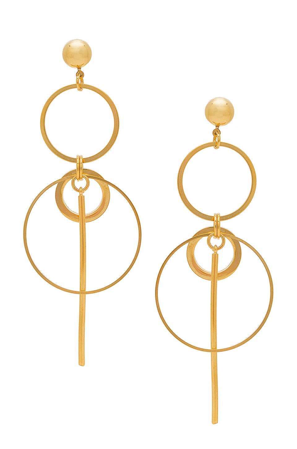 LARUICCI Multi Circle Drop Hoops in Gold