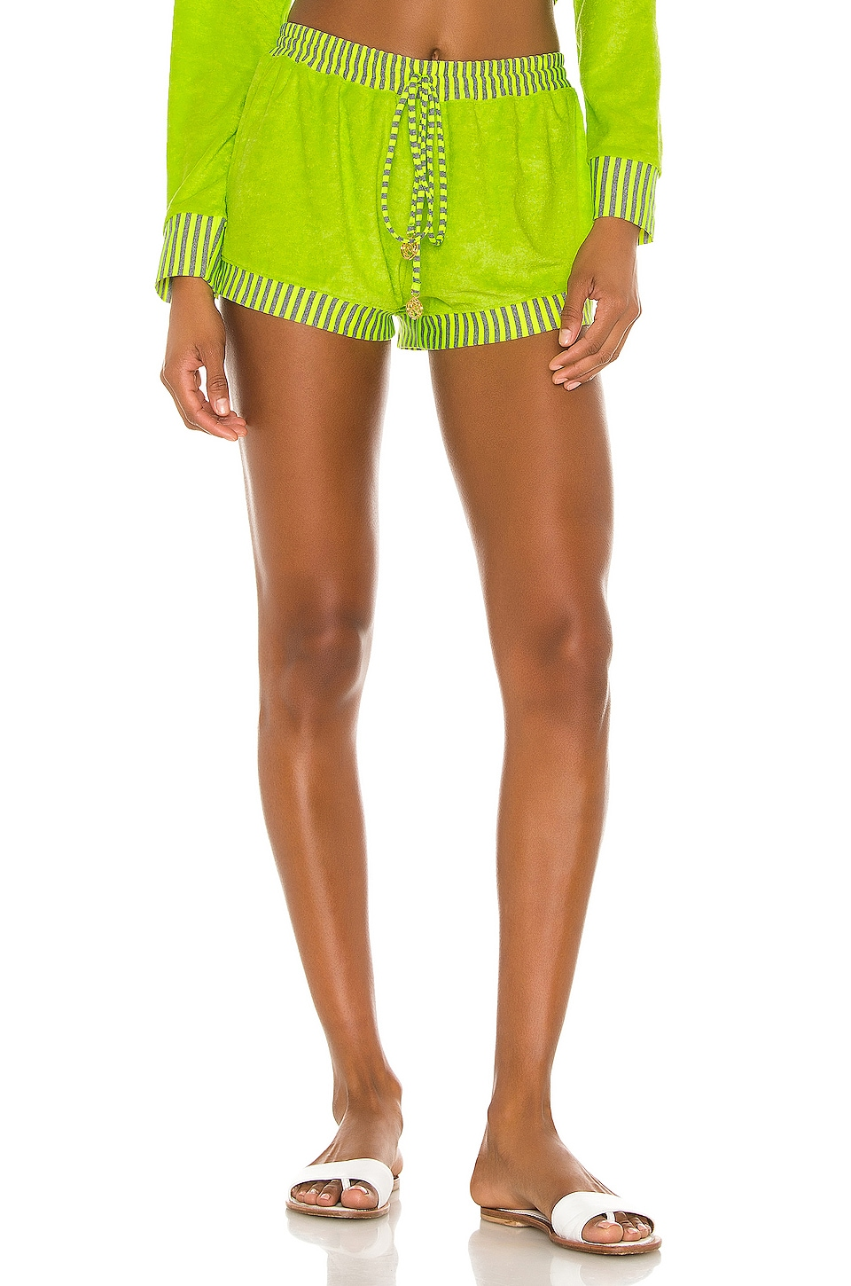 Luli Fama Relaxed Shorts in Neon Yellow