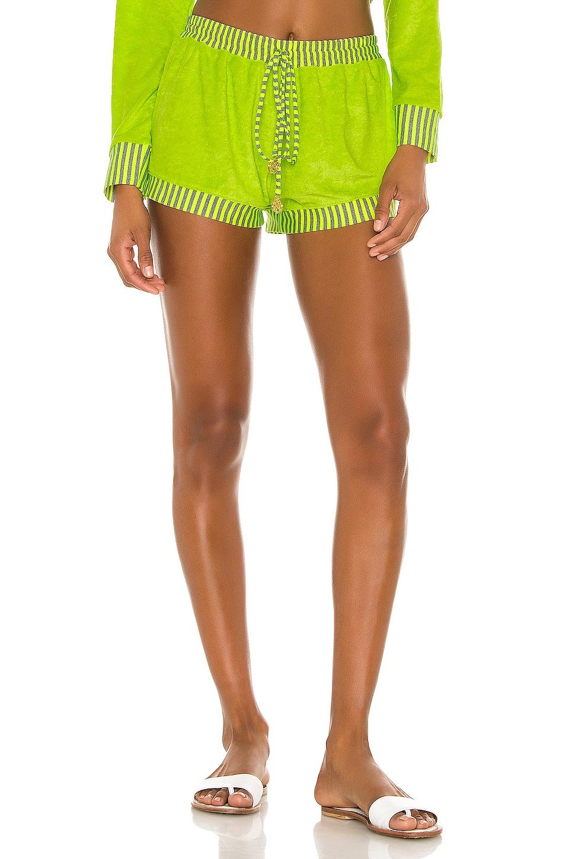 Luli Fama Relaxed Shorts en Neon Yellow