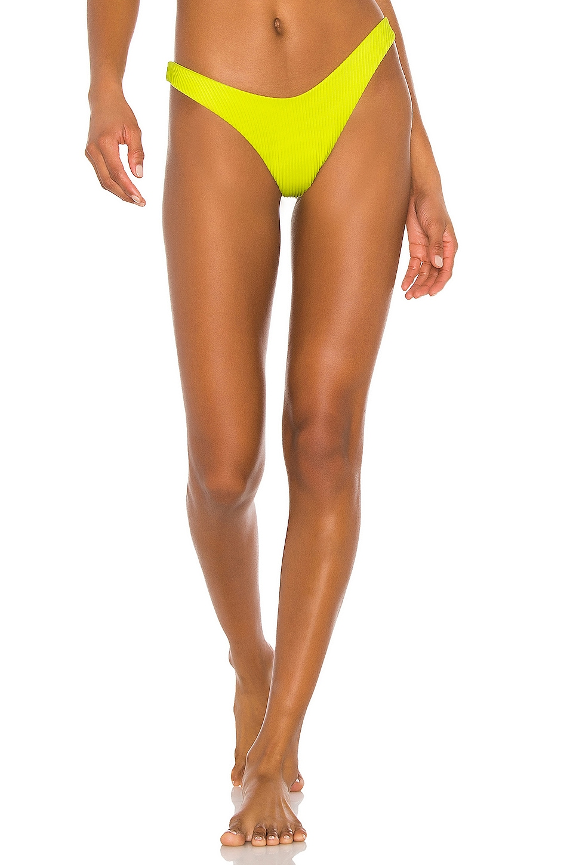 Luli Fama High Leg Bikini Bottom in Glowstick
