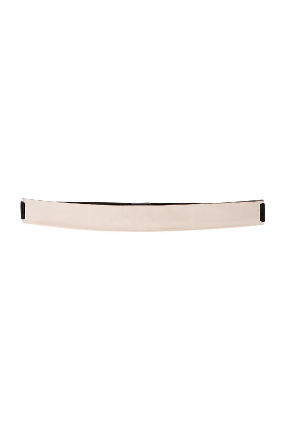 Lumier Thick Gold Banded Belt in Black