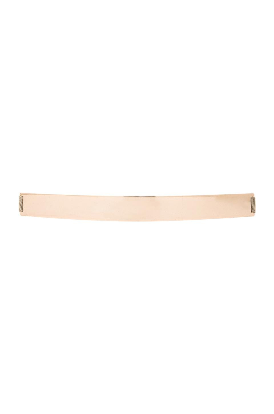 Lumier Thick Gold Banded Belt in Nude