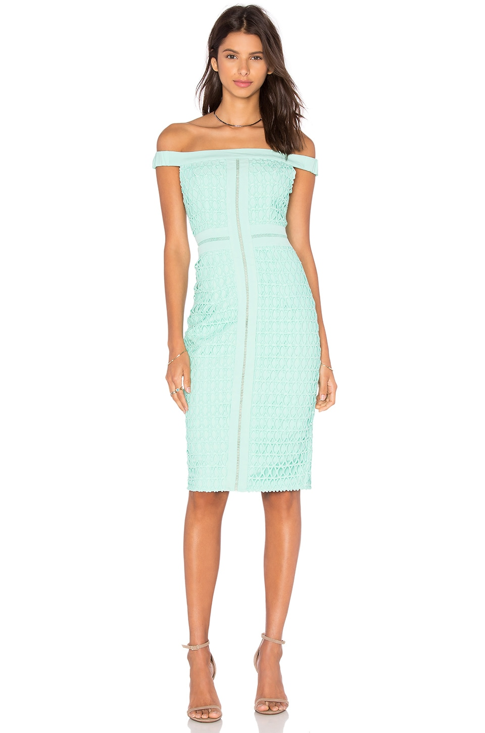 Lumier Blame Game Lace Dress in Mint